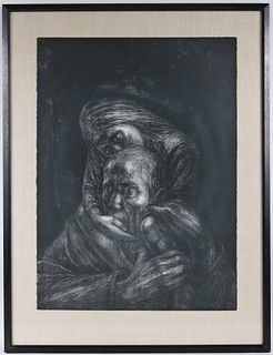 Barbara Swan, Lithograph, Father and Child