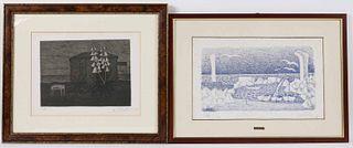 Two Giuseppe Viviani Lithographs