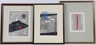 Three Luigi Spacal Etching and Aquatints