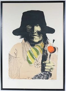 "Leonard Baskin, Lithograph ""Yellow Mag Pie"""