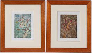 Two Roberto Matta Lithographs, Abstract Figures