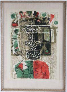 """Antoni Clave, Lithograph, """"L'Acein Roi"""""""