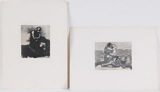 Two Collotypes, After Auguste Rodin