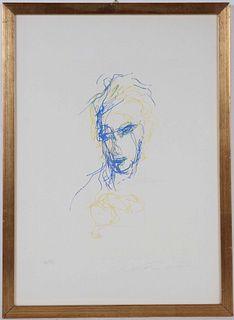 Ernesto Treccani, Lithograph, Line Figures