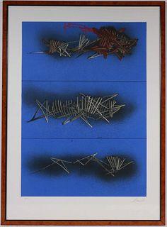 Emilio Scanavino, Serigraph, Abstract