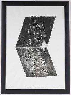 """Giuliano Collina, Lithograph, """"Poggiamera"""""""