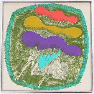 "John Altoon, Lithograph, ""Untitled"""