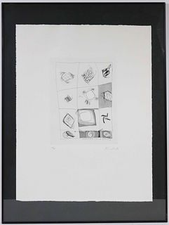 Gaston Novelli, Etching and Aquatint Relief