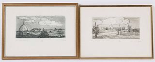 Two Remo Wolf Etchings
