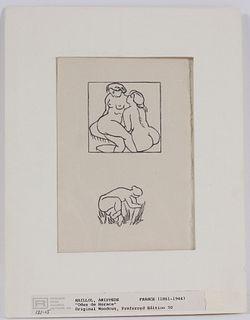 Aristede Maillol, Woodblock Print, Odes de Horace