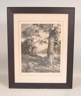 Black and White Print, Landscape, Mac W