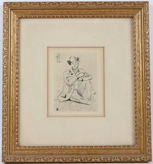 Paul Cezanne, Etching, Portrait of Guillaumin