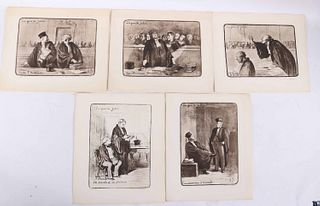 Honore Daumier, Five Lithographs