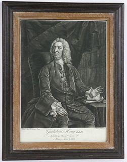 Mezzotint Engraving, Guilielmus King
