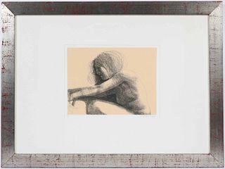 Emilio Greco, Etching, Nude Figure