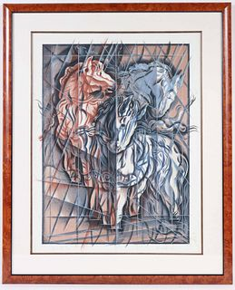 Etching and Aquatint, Abstract Horses