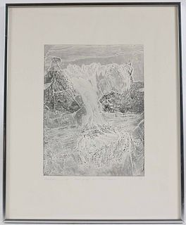 """Bernard Childs, Intaglio Trial Proof, """"The Chasm"""""""