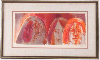 "George Lockwood, Lithograph, ""Three Saints"""