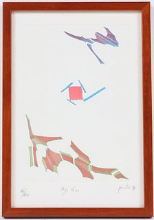 Achille Perilli, Aquatint Etching, Abstract