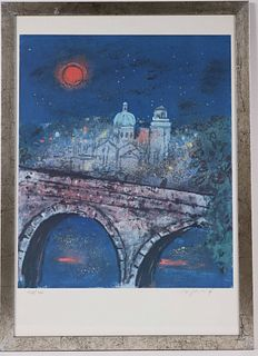 Polychrome Lithograph, Florence, Italy