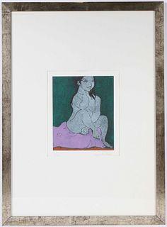 Domenico Cantatore, Aquatint Etching, Nude Figure