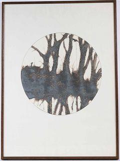 Ruth Rodman, Lithograph, Memory of a Winter Hill
