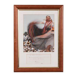 HÉCTOR HERRERA Sin título Firmada y fechada 1993 Impresión digital Enmarcada Con dedicatoria. 41 x 31 cm