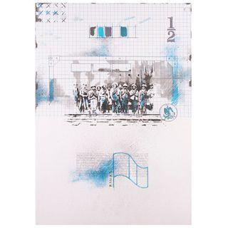 Carlos Aguirre Pangburn. Sin título. Serigrafía H / C Firmada y fechada 87. Con sello de Ediciones Multiarte, taller Enrique Cattaneo.