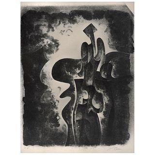 BYRON GÁLVEZ. Sin título. Firmada. Litografía P. E. 50 x 38 cm