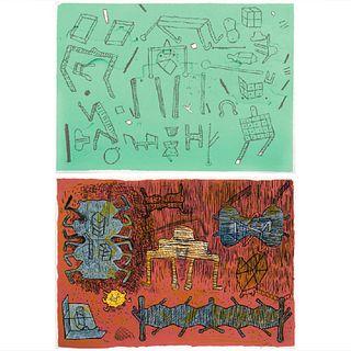 MANUEL MARÍN. Sin título, de la carpeta Artistas en la Ciudad. Firmada. Serigrafía 71 / 100.