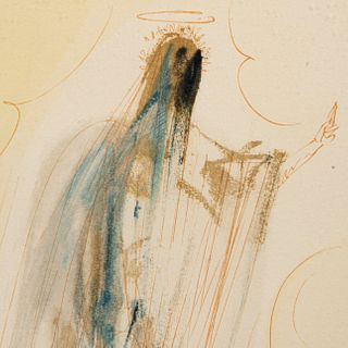 "SALVADOR DALÍ De la carpeta ""La Divina Comedia"", 1970 Firmada a lápiz al frente Xilografía E.A. Enmarcada 41 x 31 cm con marco"