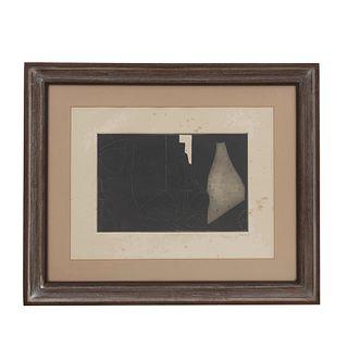 JOEL. La naciente aurora. Firmado y fechado 78. Grabado 24/100. Enmarcado. 28 x 44 cm