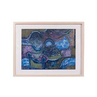 ÓSCAR GUTMAN. Sin título. Firmada y fechada '94. Serigrafía P/T 4. Enmarcado. Con sello de agua. 52 x 67 cm