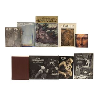 LIBROS SOBRE ARTE ITALIANO, ESPAÑOL Y MEXICANO.  a) The Complete Work of Michel Angelo.b) Francisco Goitia Total. Pzs: 8.