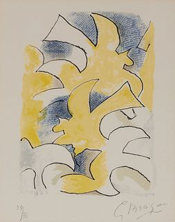 GEORGES BRAQUE, French 1882-1963, Migration, from Lettera Amorosa, 1963
