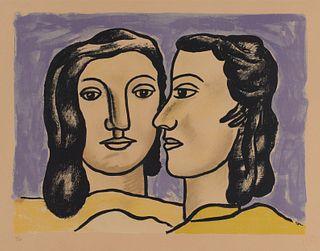 FERNAND LEGER, French 1881-1955, Les Deux Visages, 1951