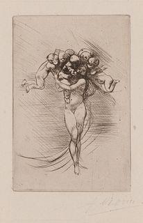 AUGUSTE RODIN, French 1840-1917, Les Printemps