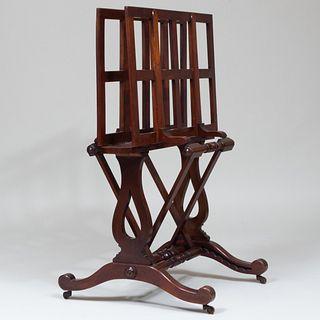Victorian Style Mahogany Print Rack