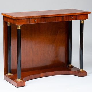 Continental Neoclassical Style Mahogany and Ebonized Pier Table