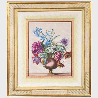 Jean-Baptiste Monnoyer (1636-1699): Livre de plusieurs corbielles de fleurs: Two Plates