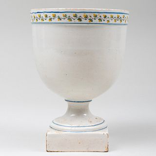 Continental Faience Urn