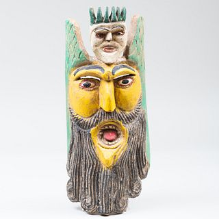 Group of Three Mexican Polychromed Masks