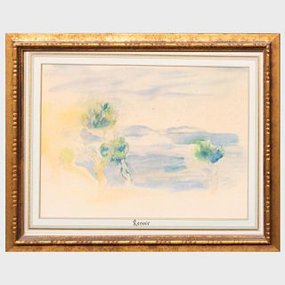 After Pierre-Auguste Renoir (1841-1919): L'Estaque; and Le Chemin tournant, from Seize Aquarelles et Sanguines de Renoir
