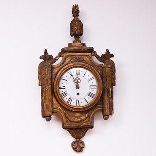 Louis XVI Style Giltwood Cartel Clock, works signed De Loime lejeune, Paris