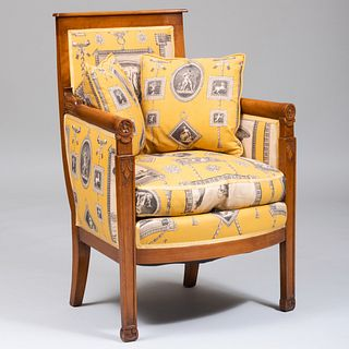 Empire Style Fruitwood Bergère