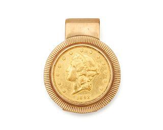 Gold Coin Money Clip