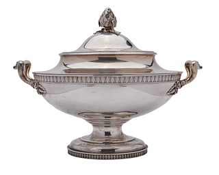 TIFFANY & CO. Silver Two-Handled Covered Tureen