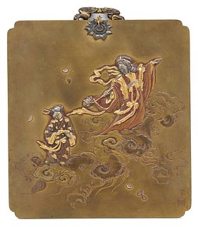 Japanese Meiji Mixed Metal Panel, late 19th century