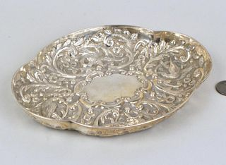 English Sterling Repousse Tray