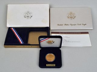 1984 Boxed Commemorative Olympic $10 Gold Coin